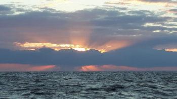 Sonnenuntergang südöstlich Cornwall