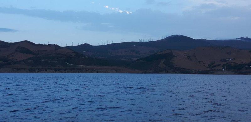 Windräder an der spanischen Küste
