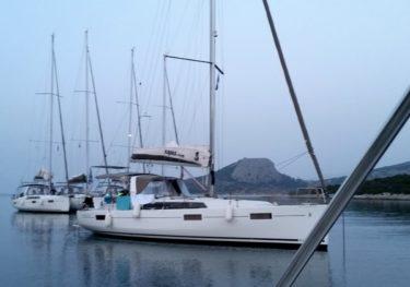 Flotille in der Skintos-Bucht