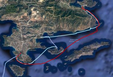Track Poros - Porto Cheli