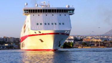 Fähre im Hafen von Iraklio