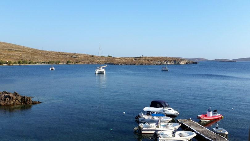 Blick vom Remezzo auf die Bucht von Sigri