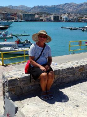 Renate im Hafen von Chios