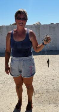 Renate mit Fisch