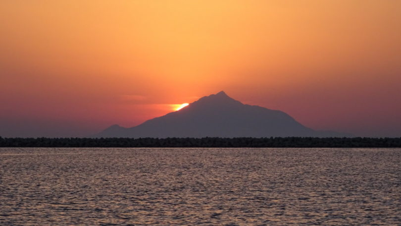 Athos im Sonnenuntergang