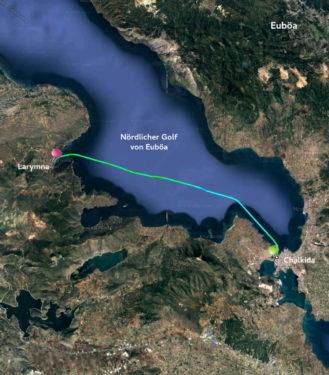 Track Chalkida - Bucht von Larymna
