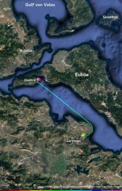Bucht von Larymna - Loutra Gialtron