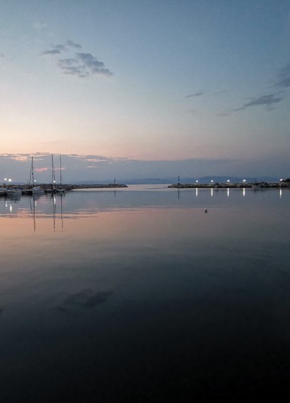Hafenausfahrt von Kalliráchi
