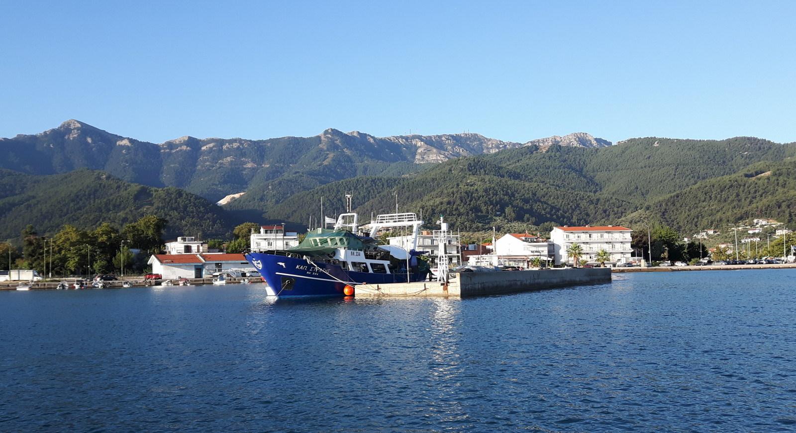 Im Hafen von Thasos