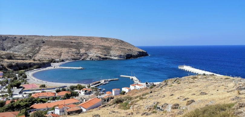Bucht und Hafen von Ágios Efstrátios